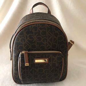CK Monogram Leather Backpack